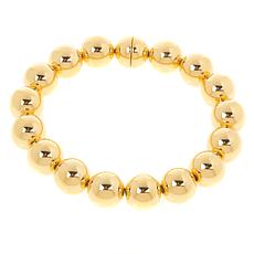 Soave Oro 14K Gold Electroform Polished Bead Bracelet