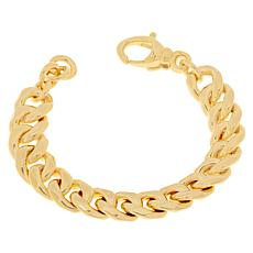Soave Oro 14K Gold Electroform Polished Curb Chain Bracelet