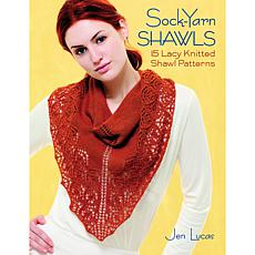"""Sock-Yarn Shawls: 15 Lacy Knitted Shawl Patterns"" Book"