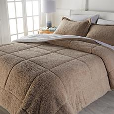 Soft & Cozy 3-piece Faux Sherpa Comforter Set