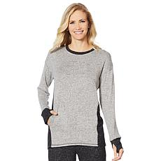 Soft & Cozy Colorblock Sweater Knit Hi-Low Top