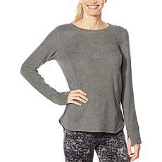 Soft & Cozy Long-Sleeve Fleece Hi-Low Top