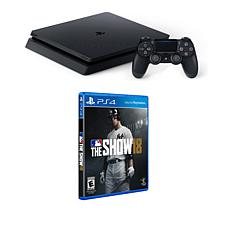 "Sony PlayStation 4 PS4 Slim 1TB Console w/""MLB 18"" Game & Accessories"