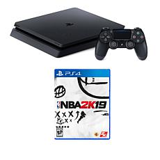 "Sony PlayStation 4 Slim 1TB Console w/""NBA 2K19"" Game and Accessories"