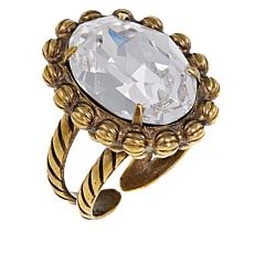 Sorrelli Jewelry Crystal Adjustable Oval Ring