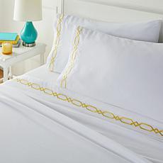 South Street Loft Embroidered Coastal 4-piece Sheet Set
