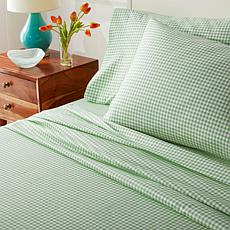 South Street Loft Gingham 4-piece Microfiber Sheet Set