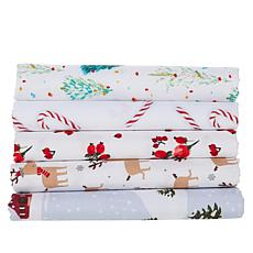 South Street Loft Holiday 4-piece Microfiber Sheet Set