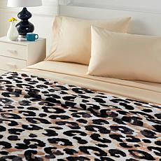 South Street Loft Plush Blanket and Microfiber Sheet Set