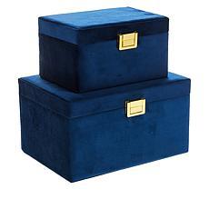 South Street Loft Set of 2 Velvet Jewelry Boxes