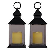 South Street Loft Set of Two Lanterns with LED Candles