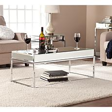 Southern Enterprises Benson Mirrored Cocktail Table