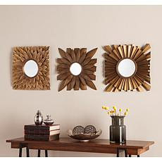 Southern Enterprises Channing 3pc Decorative Mirror Set