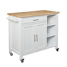 Southern Enterprises Corsicana Kitchen Cart - White