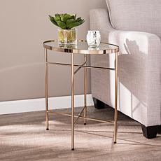 Southern Enterprises Garviston Oval Side Table - Champagne