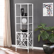 Southern Enterprises Navora Metal/Glass Etagere - White