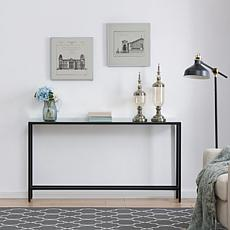 Southern Enterprises Pinsley Narrow Long Console Table - Black