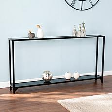 Southern Enterprises Stace Narrow Metal Console Table - Black