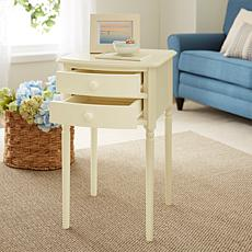 Southern Enterprises Tharton 2-Drawer Accent Table - Antique White
