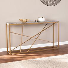 Southern Enterprises Volare Faux Stone Console Table