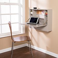 Southern Enterprises Wall Mount Laptop Desk - Warm Gray