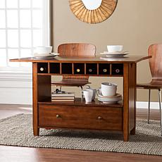 Southern Enterprises Wharton Convertible Console To Dining Table