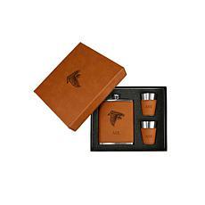 Sparo Brown Atlanta Falcons Personalized Flask and Shot Set