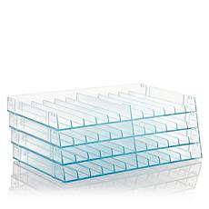 Spectrum Aqua Stackable Marker Storage Trays 4-pack