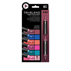 Spectrum Noir 6-piece Tri-Blend Marker Pens - Jewel Shades