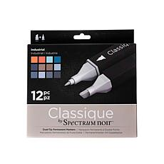 SPECTRUM Noir Classique Alcohol Markers Industrial Set of 12