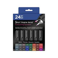 Spectrum Noir Double-Ended Alcohol Marker 24-piece Set