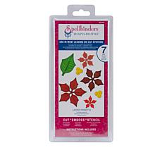 Spellbinders Shapeabilities Dies - Layered Poinsettia