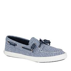 Sperry Sayel Away Pinstripe Canvas Boat Shoe