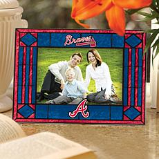 Sports Team Art Glass Picture Frame - Atlanta Braves