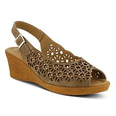 Spring Step Saibara Slingback Leather Wedge Sandals