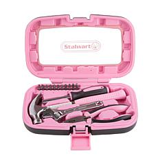 Stalwart 15-piece Household Hand Tools Set - Pink