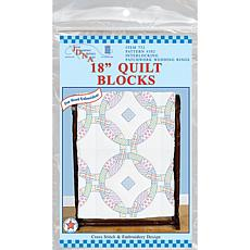 Stamped White Quilt Blocks