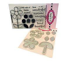 Stamps of Life Flower Power Stamp and Die Set