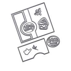 Stamps of Life Oval Flip-It Die Card-Making Die Set