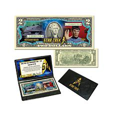 Star Trek 50th Anniversary $2 Bill - Commander Spock