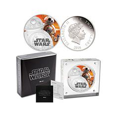 "Star Wars ""BB-8"" Proof LE Colorized Silver $2 Coin"
