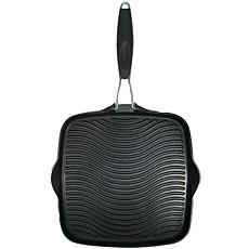 """Starfrit 10"""" Square Grill Pan with Foldable Handle"""