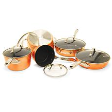 Starfrit The Rock 10-Piece Cookware Set with Stainless Steel Handles