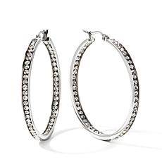 "Stately  Steel Crystal Inside/Outside 1-1/2"" Hoops"