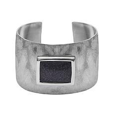 Stately Steel Purple Square Cuff