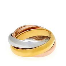 Stately Steel Tri-Colored Rolling Ring