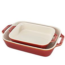 Staub Ceramic 2-piece Rectangular Baking Dish Set