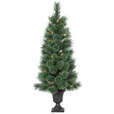 Sterling 4-1/2' Potted Glitter Deluxe Christmas Tree