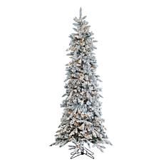 Sterling 7-1/2' Flocked Pine Lighted Christmas Tree