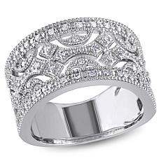 Sterling Silver 0.25ctw Diamond Vintage Ring